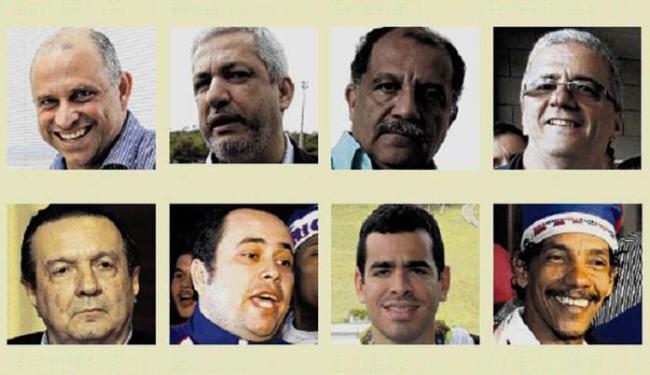 Eleição para escolha do novo presidente do Bahia tem oito candidatos - Foto: Editoria de Arte A TARDE