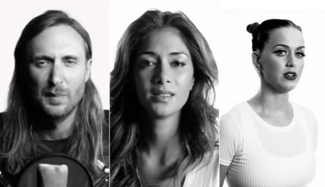 David Guetta, Nicole Scherzinger e Katy Perry são alguns dos famosos do vídeo - Foto: Reprodução | Youtube