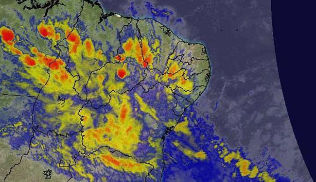 Imagens de satélite mostram chegada da frente fria ao estado - Foto: Reprodução | Climatempo