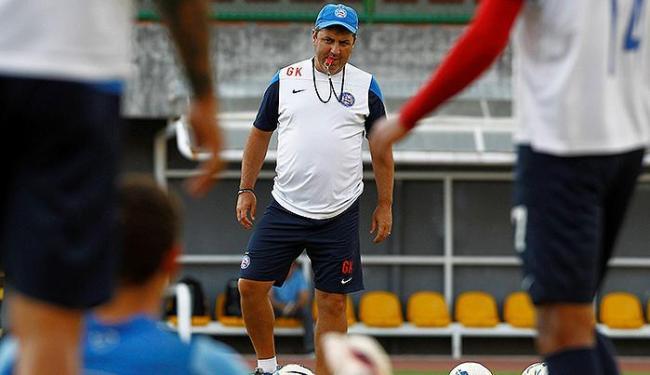 Técnico Gilson Kleina durante treino do Bahia em Pituaçu - Foto: Eduardo Martins | Ag. A TARDE