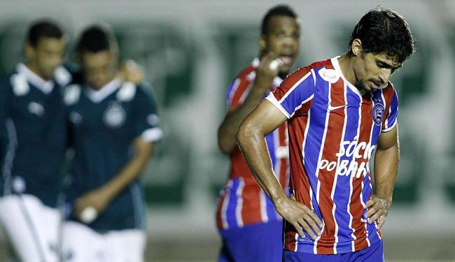 Jogadores do Bahia lamentam goleada para o Goiás - Foto: Adalberto Marques | Folhapress