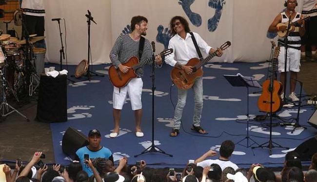Saulo e Luiz Caldas já apresentaram o show no Parque da Cidade - Foto: Luciano da Matta   Ag. A TARDE