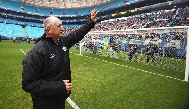 Luiz Felipe Scolari disse que o time tem sofrido com a perseguição - Foto: Lucas Uebel | Grêmio FBPA