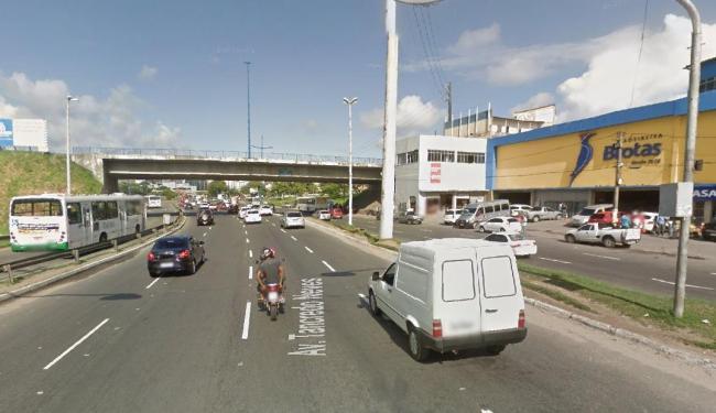Novo radar foi instalado na região da Madeireira Brotas, para fiscalizar corredor de ônibus - Foto: Reprodução   Google Maps