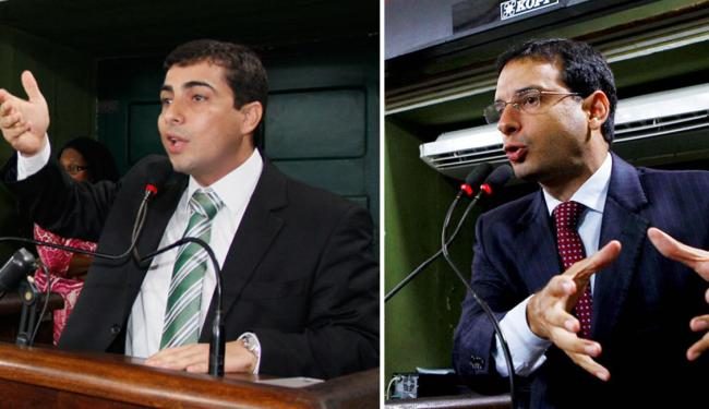 Marcell denuncia e quer CPI para apurar. Leo Prates defende contratos de primo - Foto: Joá Souza e Eduardo Martins | Ag. A TARDE