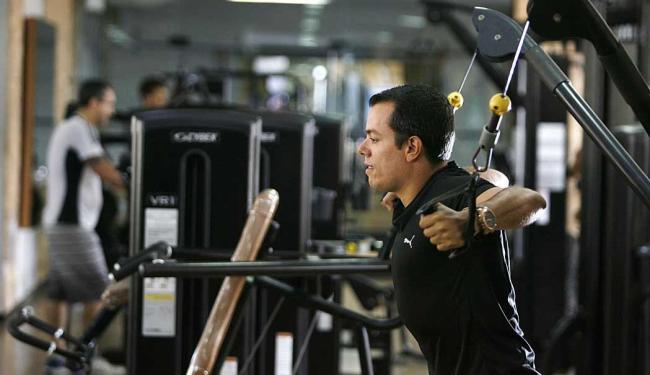 Márcio Brandão realizou exames físicos antes de começar a fazer academia - Foto: Raul Spinassé   Ag. A TARDE
