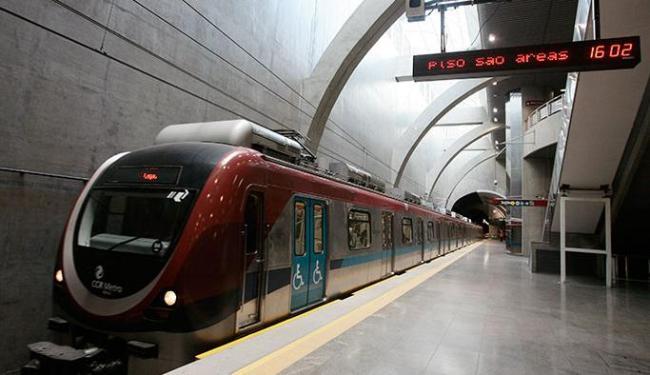 Metrô terá horários modificados devido aos eventos que acontecerão na Arena Fonte Nova - Foto: Mila Cordeiro | Ag. A TARDE
