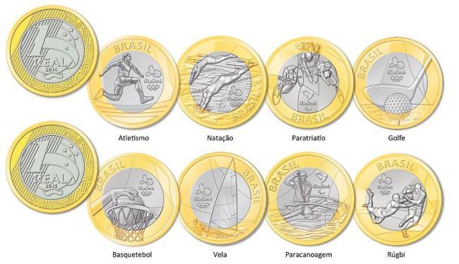 Moedas comeorativas de R$ 1 - Foto: Divulgação | BC