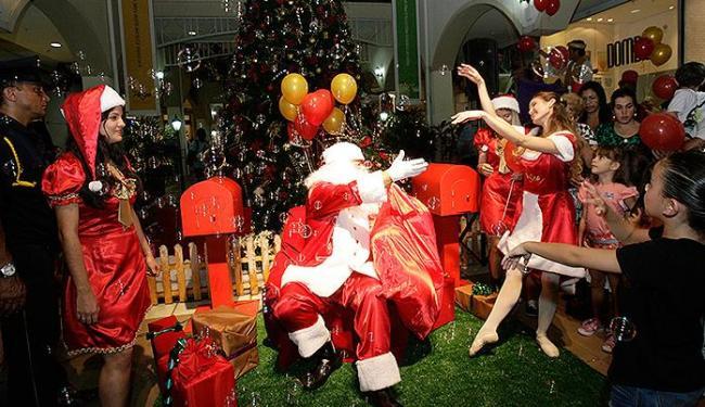 Papai Noel é destaque no Paseo e demais shoppings - Foto: Margarida Neide   Ag. A TARDE