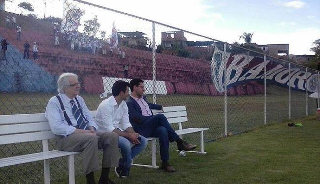 Membros da Bamor foram ao CT para apoiar o Esquadrão - Foto: Divulgação l E.C. Bahia