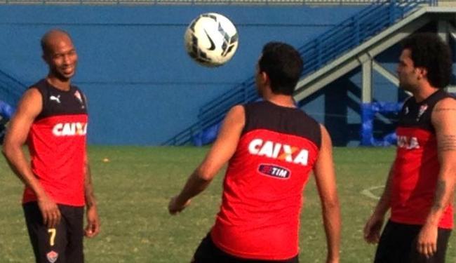 Jogadores do Leão treinam no estádio que pertence ao São Raimundo - Foto: Divulgação l E.C. Vitória