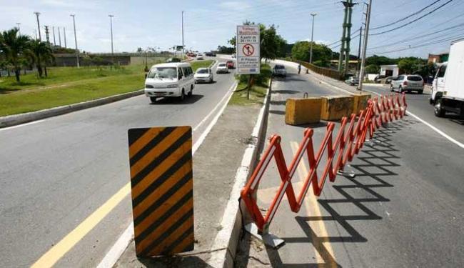 Alteração no trânsito realizada pela Transalvador passou a vigorar no sábado, 29 - Foto: Luciano da Matta   Ag. A TARDE