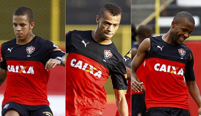 William Henrique (C), Willie (D) e Marcos Junio são as opções na frente, mas nenhum vive boa fase - Foto: Eduardo Martins   Ag. A TARDE
