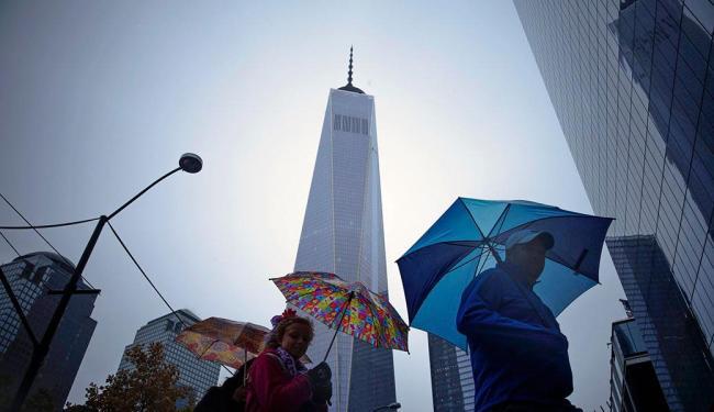 O One World Trade Center, como foi batizado o edifício de US$ 3,9 bilhões, tem 104 andares - Foto: Agência Reuters
