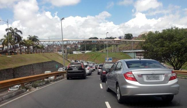 Acesso ao Salvador Shopping está congestionado - Foto: Reprodução   Facebook