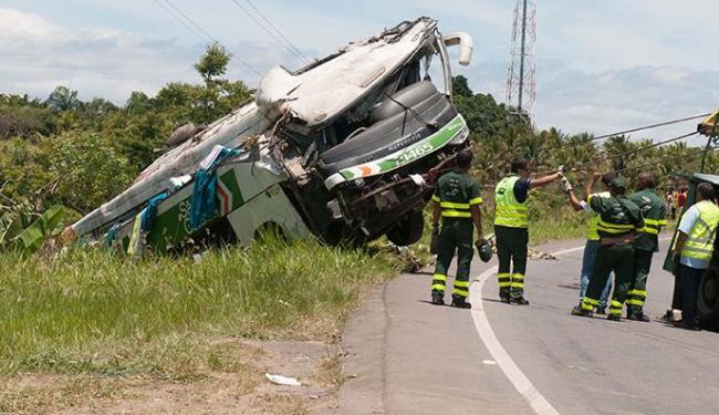 O acidente aconteceu no último sábado, 27. Nove pessoas morreram e 24 feridas - Foto: Bruno Herculano | Estadão Conteúdo