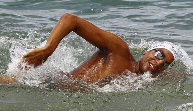 Campeão mundial das maratonas aquáticas 2014, Allan do Carmo é um dos participantes do evento - Foto: Eduardo Martins  Ag. A TARDE