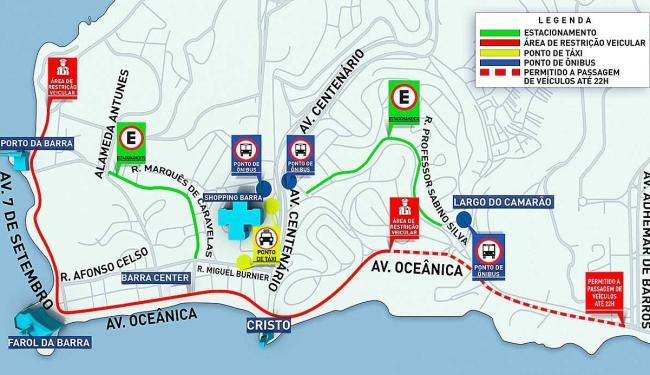 Réveillon de Salvador gera mudanças no tráfego e transporte na região do Comércio e da Barra - Foto: Divulgação | Agecom