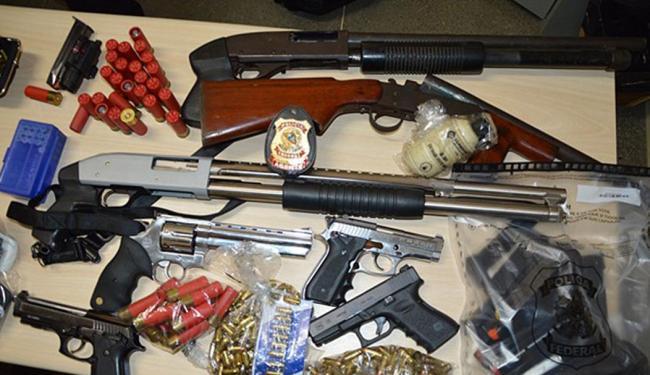 Federais já apreenderam armamento pesado na operação Poço Vermelho - Foto: Polícia Federal | Divulgação