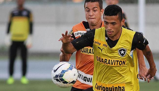 Rogério treina no CT do Botafogo. Ele fez apenas dois gols em 2014 - Foto: Vitor Silva l SS Press