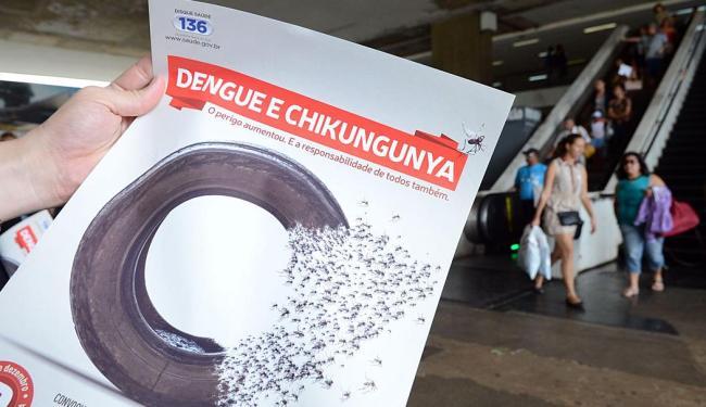 Cartaz de campanha contra a dengue e chikungunya - Foto: Agência Brasil