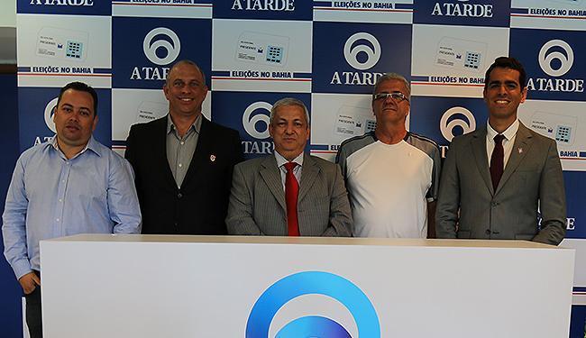 Da esquerda para a direita: Ronei, Olavo, Marco, Tillemont e Marcelo, nesta terça, na Fonte Nova - Foto: Léo Braga l Ag. ATARDE