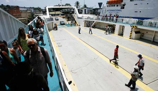 Ferryboat Zumbi dos Palmares está em operação há menos de dois meses - Foto: Raul Spinassé | Ag. A TARDE
