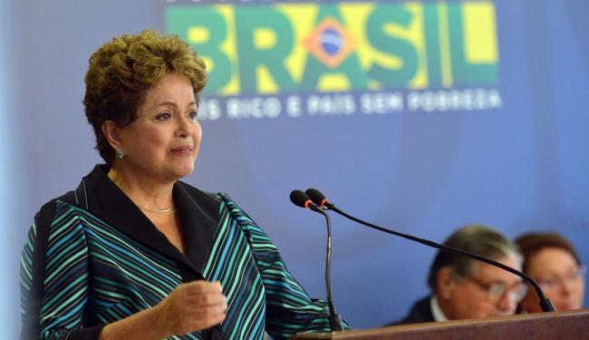 A presidente não controlou a emoção - Foto: Agência Brasil