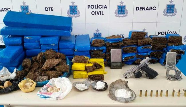 Mais de 70 kg de maconha, crack e cocaína foram apreendidos - Foto: Divulgação   ASCOM Políia Civil
