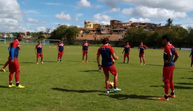 Grupo realizou treino técnico no Fazendão na manhã desta terça - Foto: Reprodução | E.C.Bahia