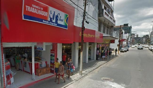 Franquia saqueada localiza-se na rua Barão de Cotegipe, na Calçada - Foto: Reprodução | Google Maps