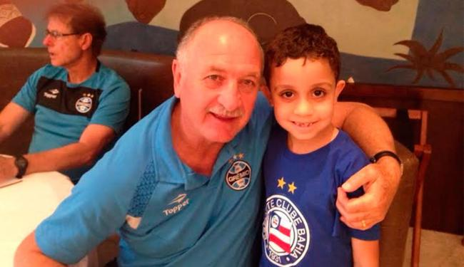 Mesmo tietando técnico do Grêmio, Chicão não escondeu paixão tricolor - Foto: Cidadão Repórter