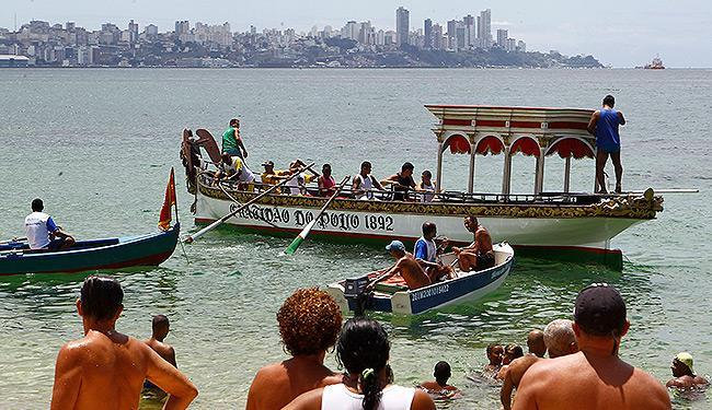 Procissão seguiu até Conceição da Praia, com a imagem de Bom Jesus dos Navegantes - Foto: Eduardo Martins | Ag. A TARDE