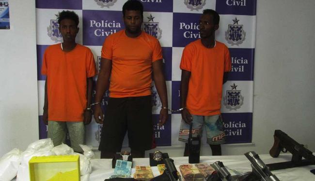 Homens foram apresentados nesta segunda-feira, 1º - Foto: Ascom   Polícia Civil