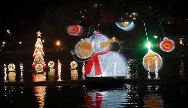 O boneco de neve foi um dos ícones do Natal exibidos pela técnica - Foto: Margarida Neide/ Ag. A TARDE