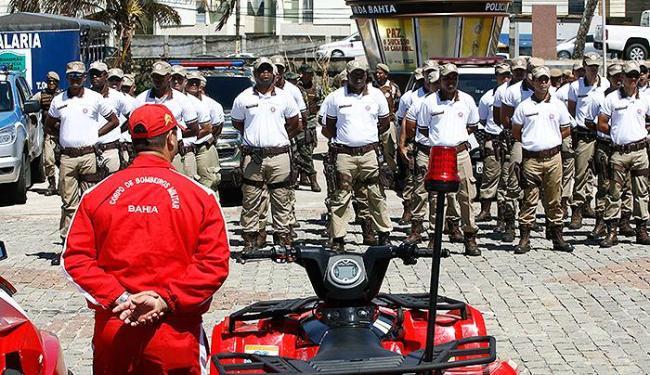 Além de reunir parte da tropa, solenidade mostrou equipamentos recém-adquiridos - Foto: Luciano da Matta   Ag. A TARDE