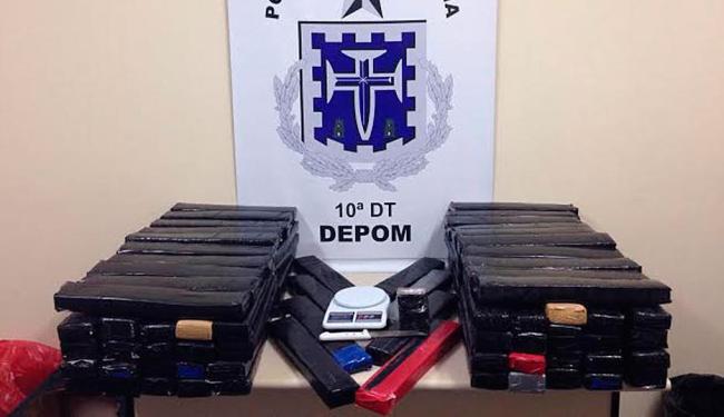 Segundo delegado, casal estava em Salvador para negociar a maconha com traficantes locais - Foto: Divulgação | ASCOM Polícia Civil