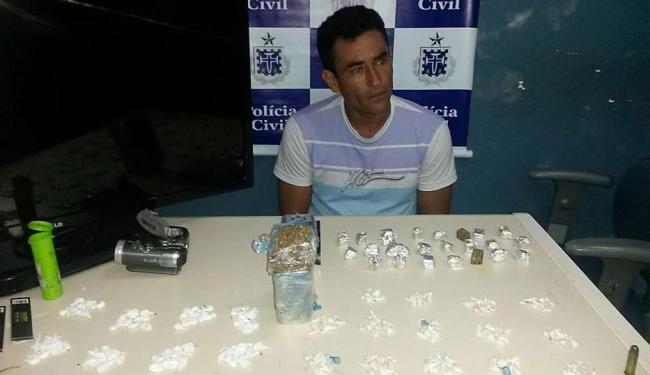 Traficante admitiu à policia faturar R$ 2.800 por mês com o tráfico de drogas - Foto: Divulgação| Polícia Civil