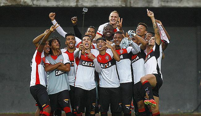 Leãozinho comemora a classificação para a final - Foto: Eduardo Martins | Ag. A TARDE