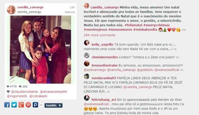 Namorada de Zezé não participou do Natal da família dele - Foto: Reprodução
