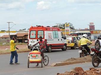 Idosa chegou a ser socorrida por ambulância do Samu, mas não resistiu - Foto: Reprodução | Blog do Sigi Vilares