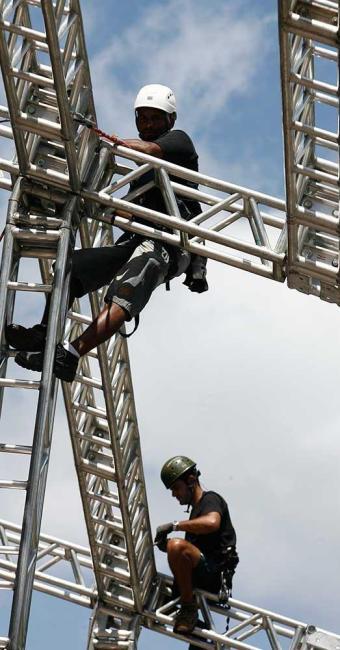 Cinco camarotes em fase de montagem foram notificados no circuito Dodô - Foto: Marco Aurélio Martins   Ag. A TARDE