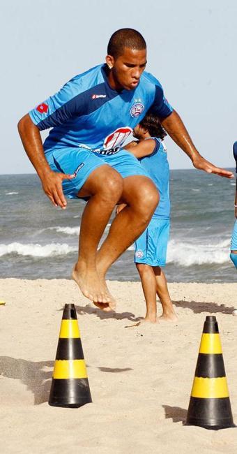 Jael durante pré-temporada de 2011, sua última passagem no Bahia - Foto: Fernando Amorim | Ag. A TARDE