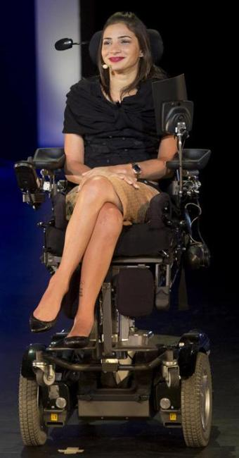 Laís ficou tetraplégica ao sofrer acidente em treino de esqui aéreo ocorrido em janeiro de 2014 - Foto: Mauro Pimentel | Estadão Conteúdo