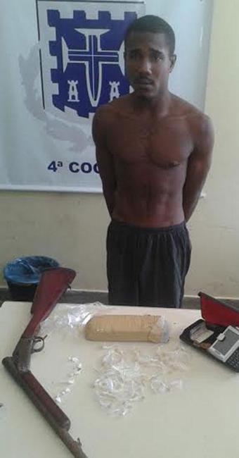Polícia investiga origem da droga e da arma apreendidas com Luiz Fernando - Foto: Divulgação | Polícia Civil