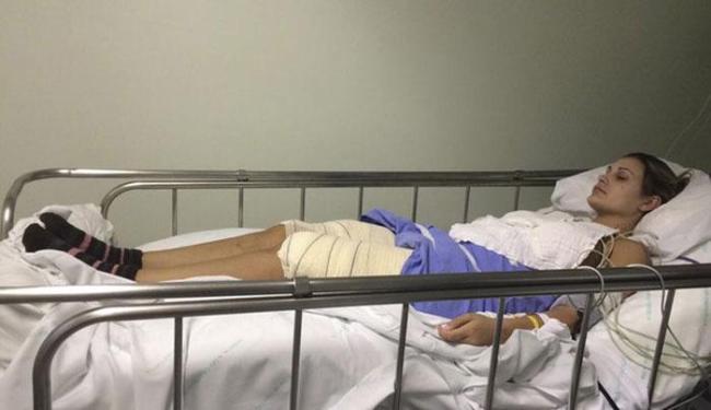 Andressa passou 25 dias internada no Hospital Conceição, em Porto Alegre - Foto: Divulgação | Ag. Grosby Group
