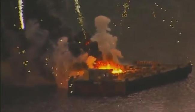 Ninguém ficou ferido no incêndio, garantiu secretário - Foto: Reprodução | TV Globo