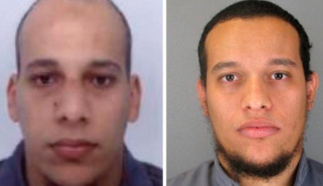 Cherif Kouachi (esq.) e Said Kouachi (dir.) são apontados como os responsáveis diretos pelos tiros - Foto: Polícia da França