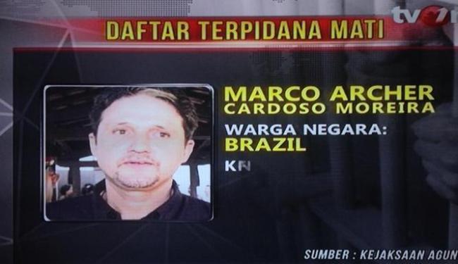 TV da Indonésia anuncia execução de Marco - Foto: Reprodução | Tv One