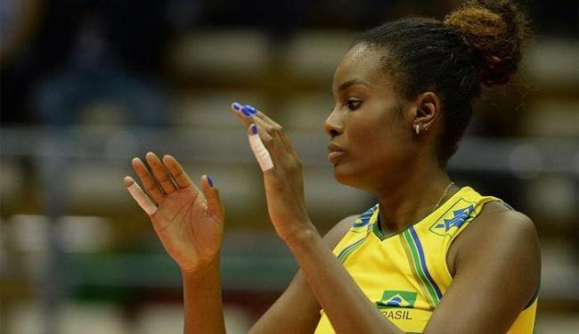 Fabiana sofreu racismo durante o jogo na Arena Minas, em Belo Horizonte, na última terça - Foto: Divulgação   CBV